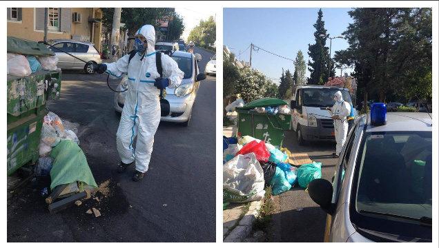 Ηλιούπολη: Ψεκάζουν τα σκουπίδια για την αποφυγή μολύνσεων