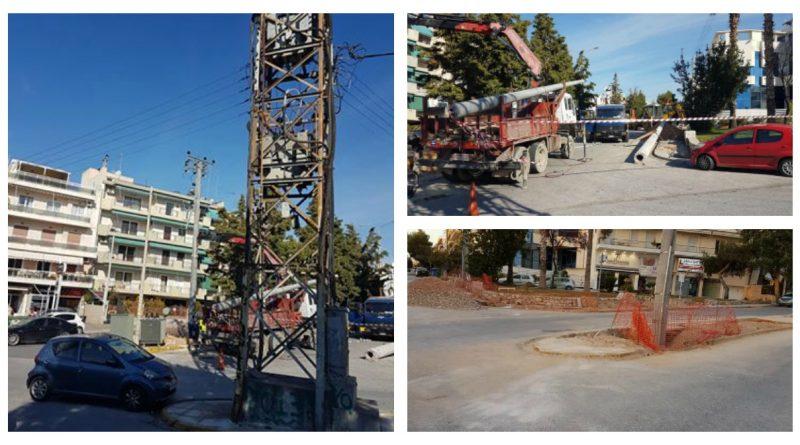 Ελληνικό - Αργυρούπολη: Απομακρύνουν τους σκουριασμένους πυλώνες της ΔΕΗ