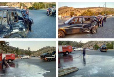 Τροχαίο με τραυματίες στη λίμνη της Βουλιαγμένης (ΕΙΚΟΝΕΣ)