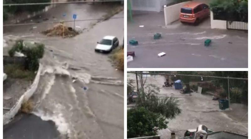 Άγιος Δημήτριος: Τα ορμητικά νερά «πήγαν βόλτα» τη λαϊκή! (VIDEO)